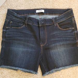 NWOT jean cutoff shorts w/ stretch